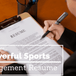 making a sports management resume