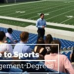 sports management degrees guide