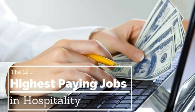 most highest paid jobs in hospitality