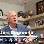 masters degree important to become a sports agent
