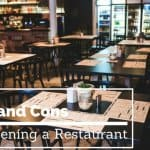 pros and cons of starting a restaurant