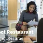 restaurant manager resume tips